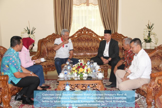 Kunjungan Gubernur Jawa Tengah ke Lokasi Transmigrasi Padang Tarok Sijunjung