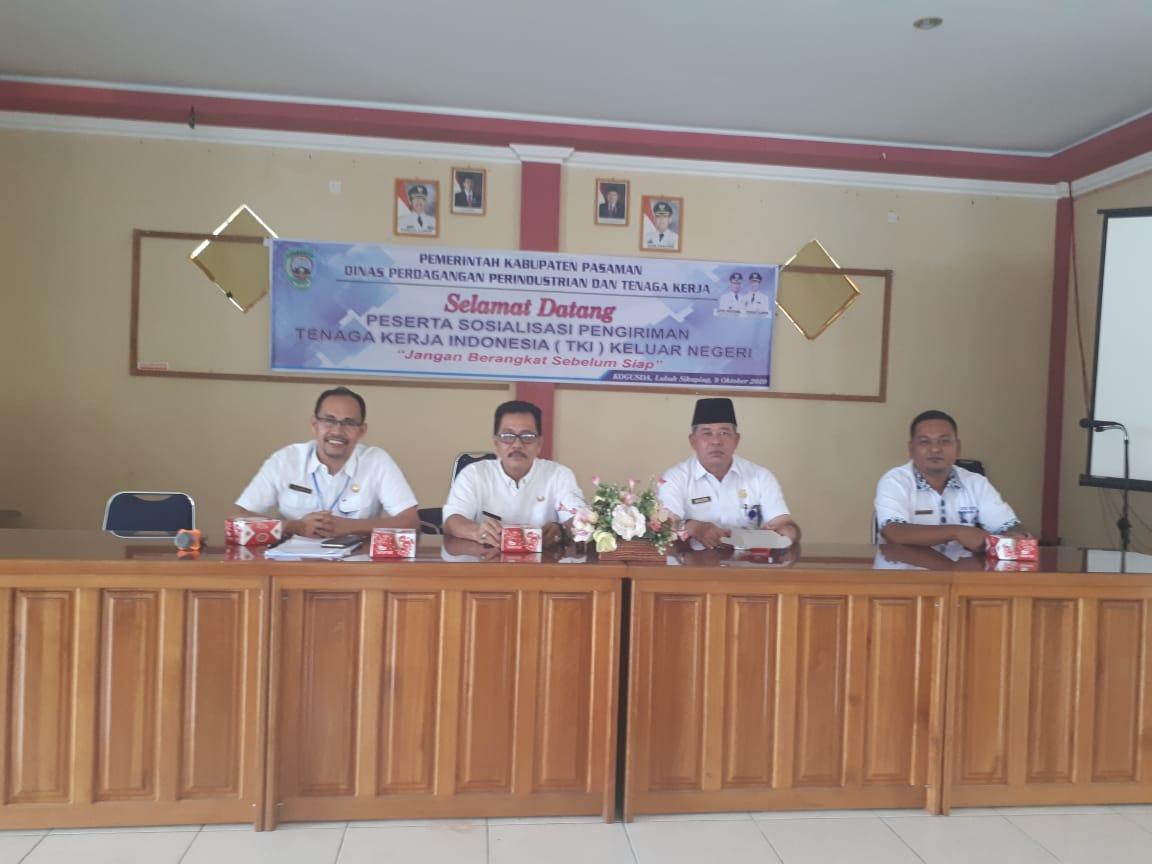 Sosialisasi  pengiriman Pekerja Migran Indonesia (pmi)