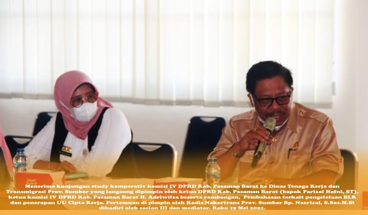 kunjungan study komperativ komisi IV DPRD Kab. Pasaman Barat