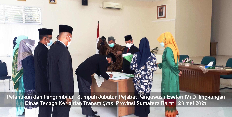 Pelantikan dan Pengambilan Sumpah Jabatan Pejabat Pengawas ( Eselon IV)