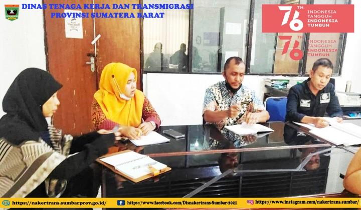 Penyelesaian kasus ketenagakerjaan di uptd pk wil.I tgl 12 Agust 21
