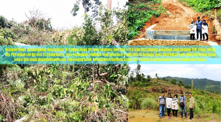 Monev pembangunan infrastruktur di Padang Tarok SP1
