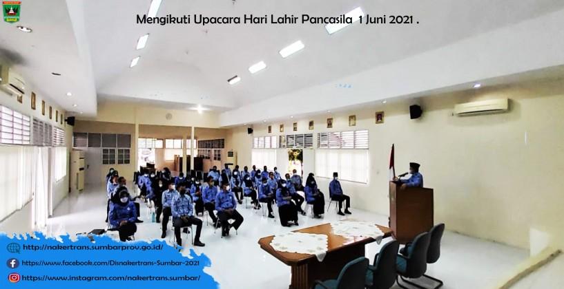 mengikuti upacara Hari Lahir Pancasila 1 Juni 2021