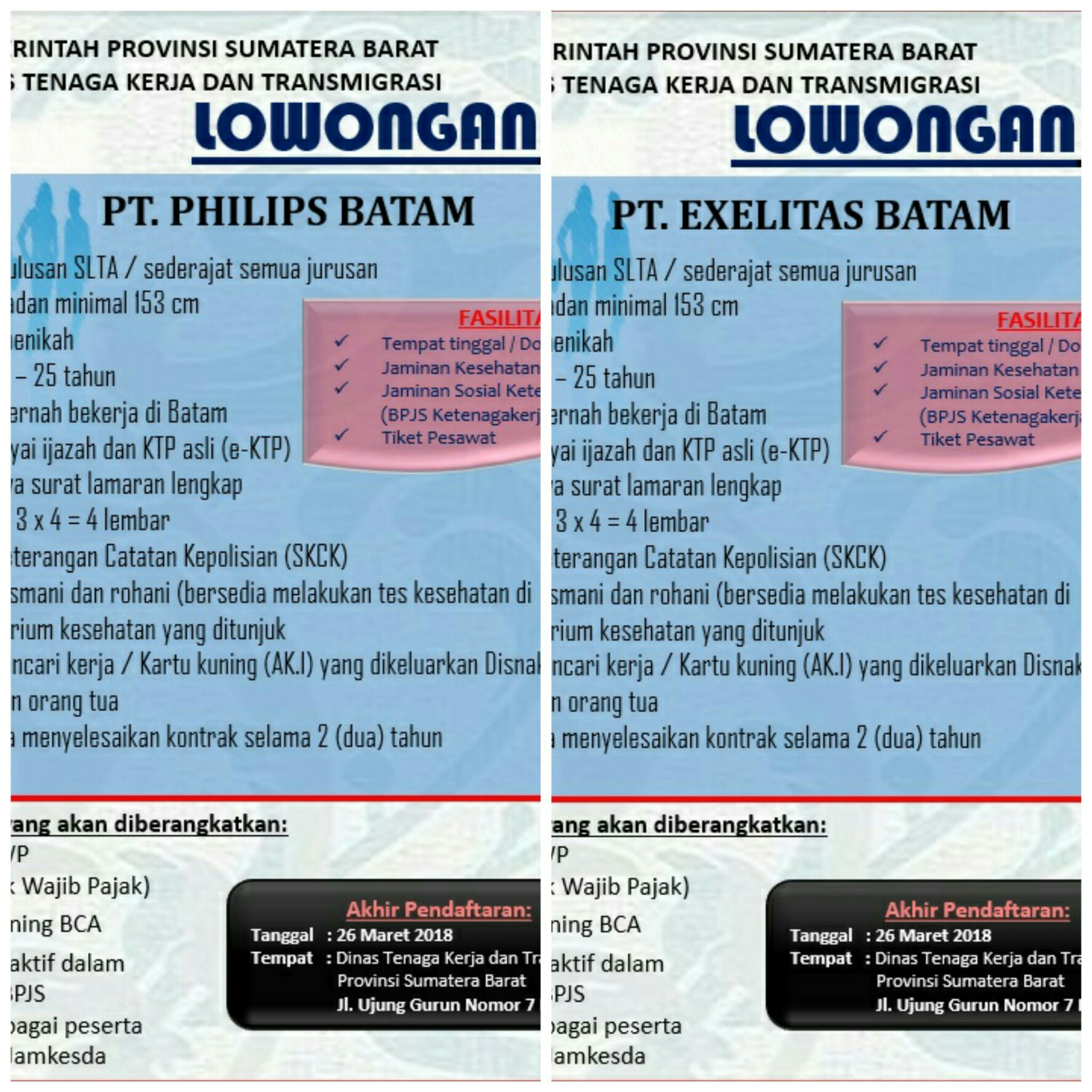 Lowongan Kerja Pt Exelitas Dan Pt Philips Batam
